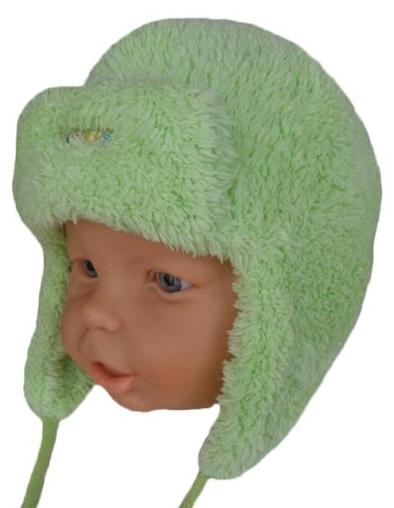 Sando 120 - Kojenecká zimní čepice ušanka 43-45 Barva  Zelená e13f16c4bf
