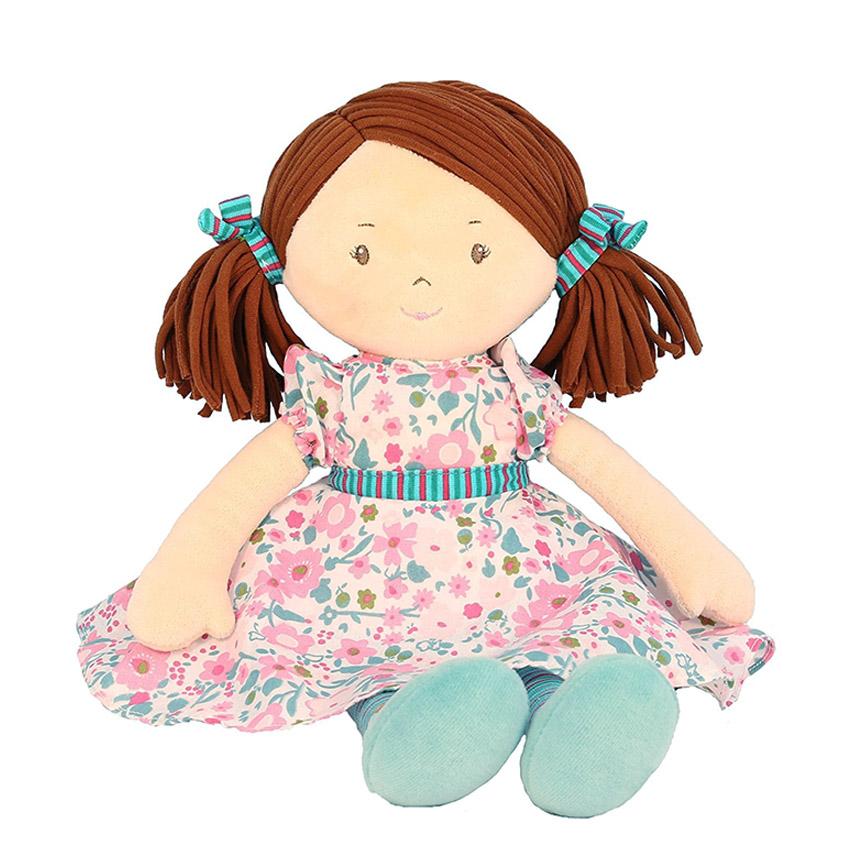 Bonikka látková panenka 41cm - Katy – ružovo-modré šaty