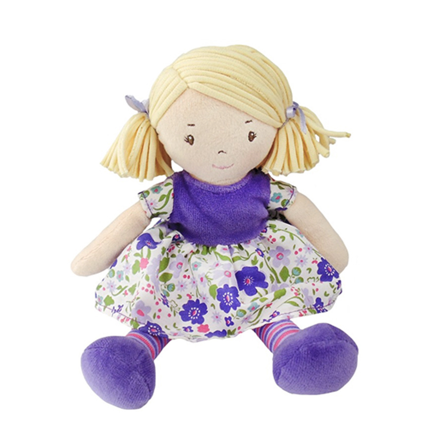 Bonikka látková panenka 26cm - Malá Peggy – fialové šaty