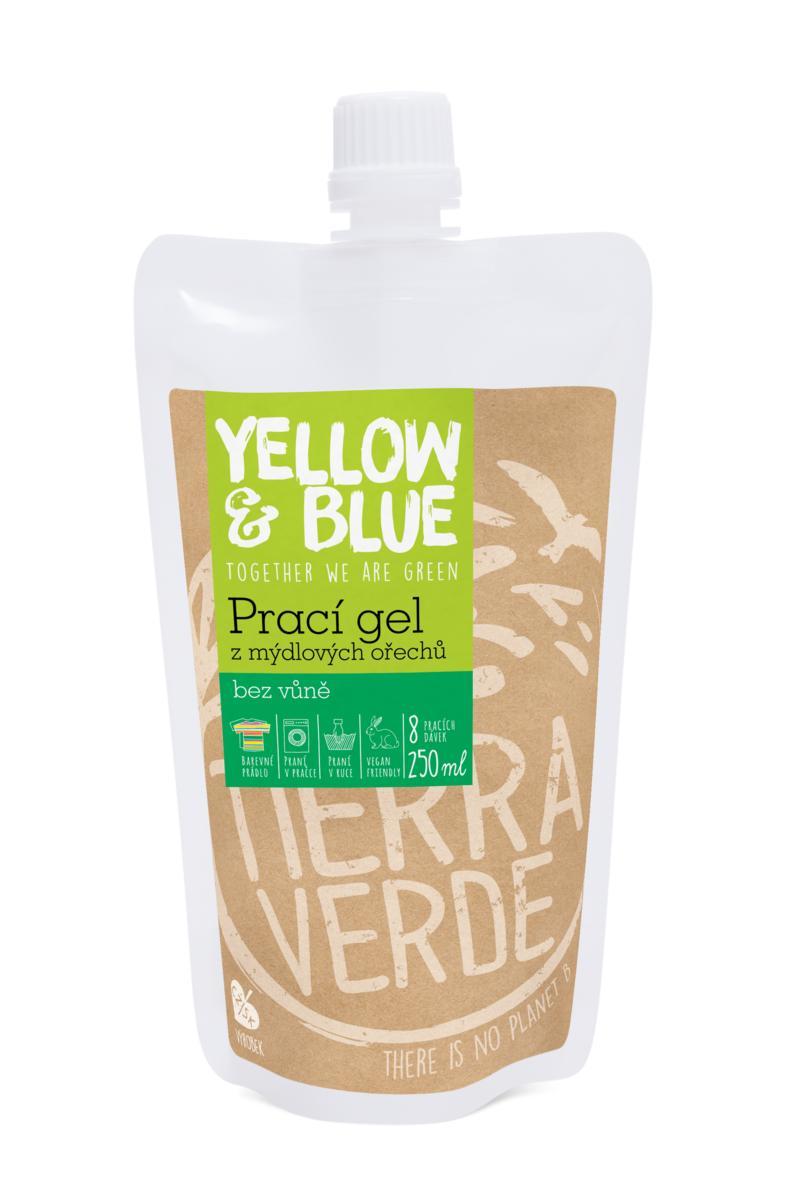 Prací gel z mýdlových ořechů bez vůně 250 ml - sáček uzávěr