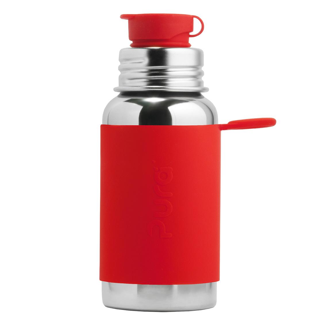 Pura® nerezová láhev se sportovním uzávěrem 550 ml Červená