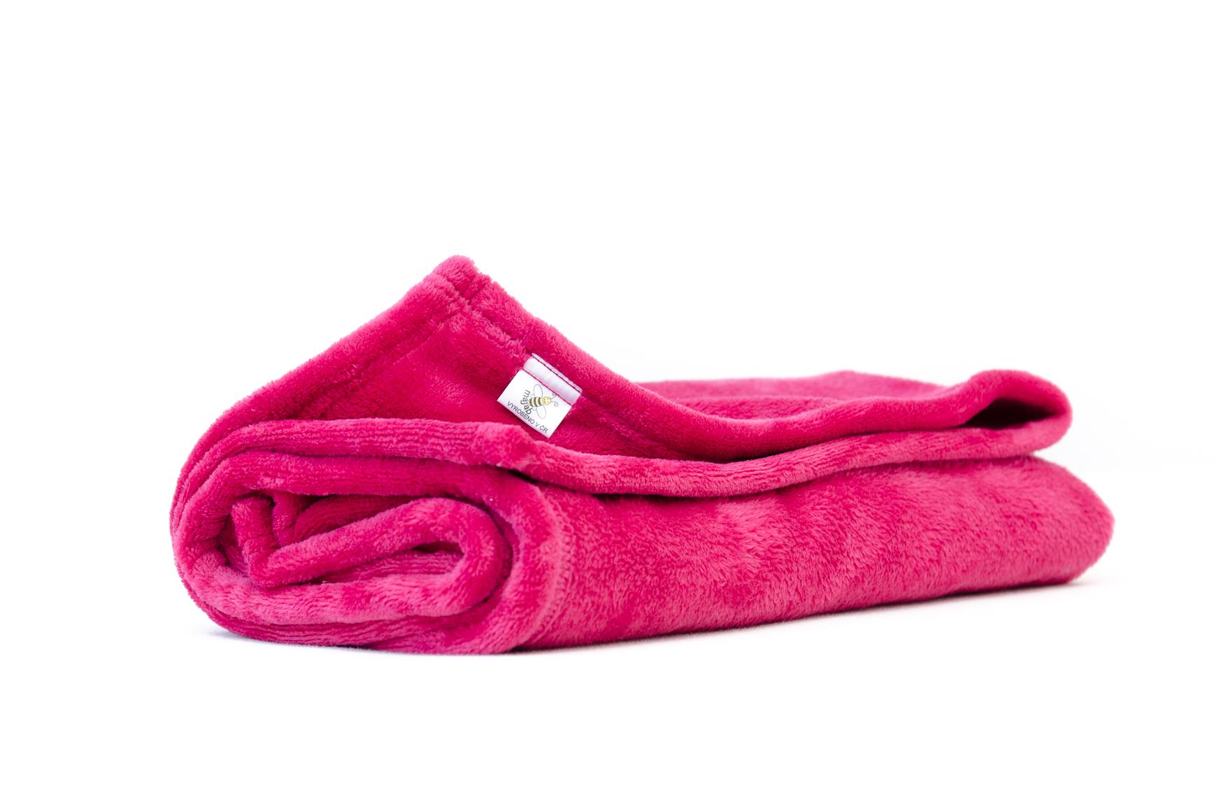 MAJAB Dětská deka Vínová Rozměr: 100x70cm