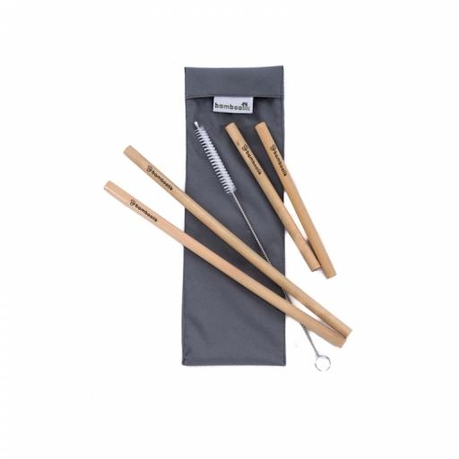 Bamboolik Sada bambusových brček dlouhá Barva: šedá