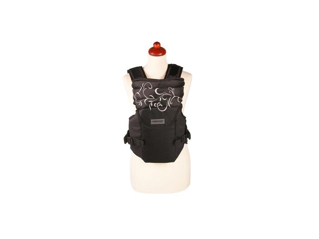 Nosítko Womar Zaffiro Sunny černý s šedou výšivkou