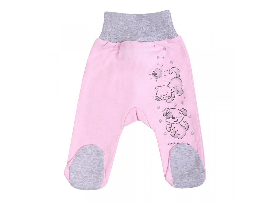 Kojenecké polodupačky New Baby Kamarádi růžové