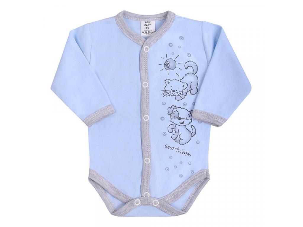 Kojenecké body celorozepínací New Baby Kamarádi modré