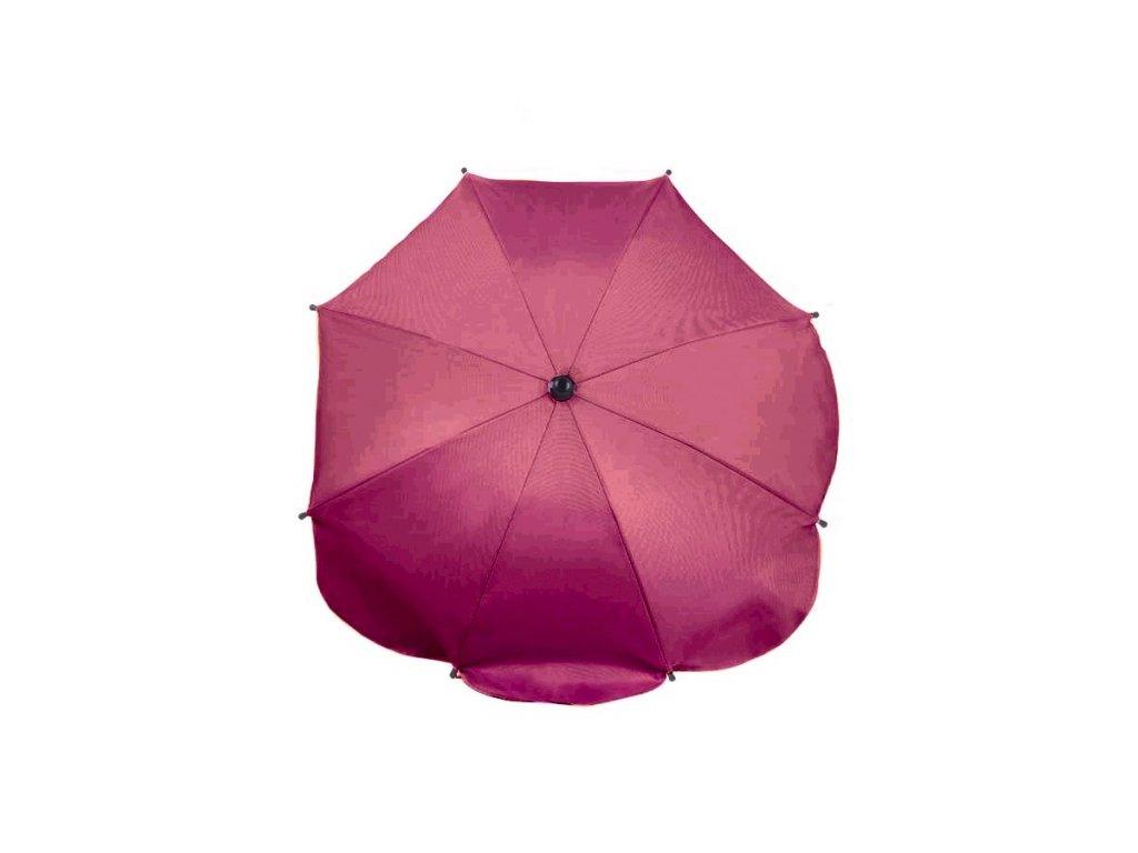 Slunečník na kočárek růžovo-fialový
