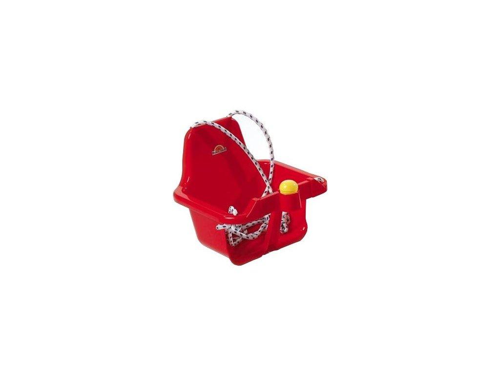 Houpačka s pískátkem červená
