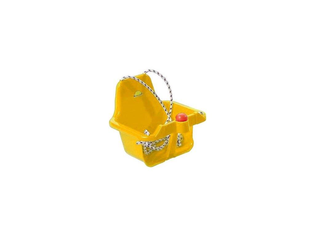 Houpačka s pískátkem žlutá