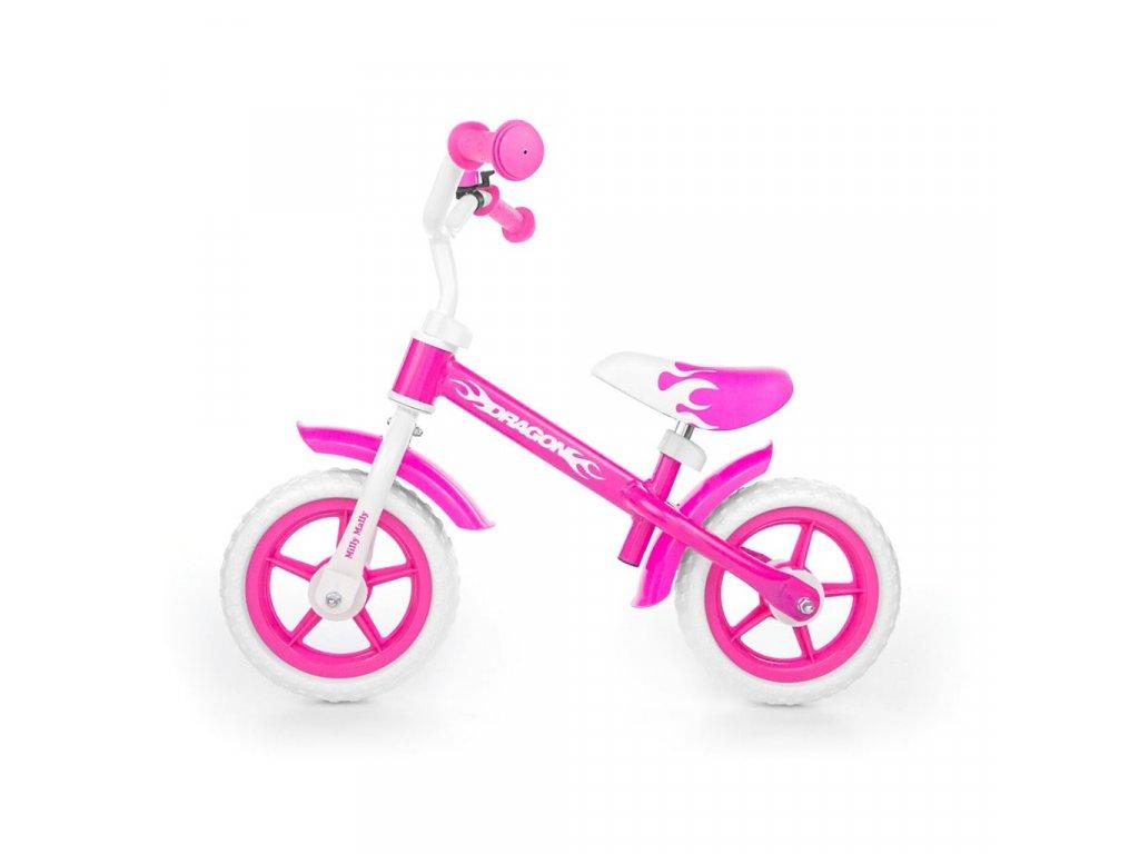 Dětské odrážedlo kolo Milly Mally Dragon pink
