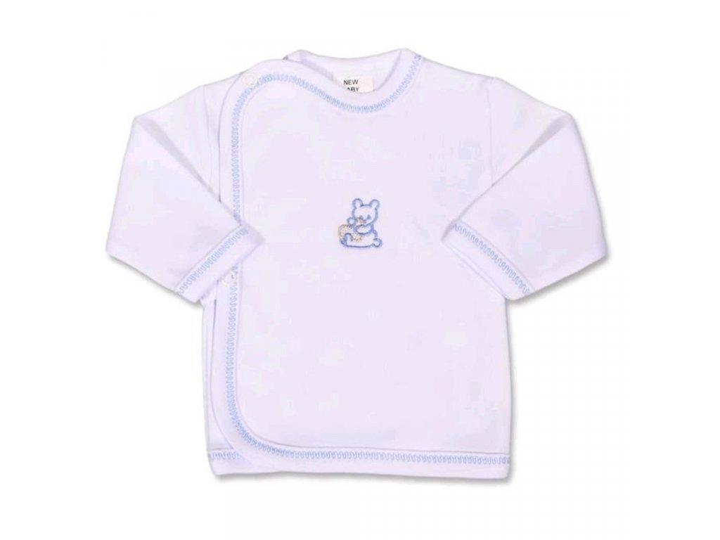 Kojenecká košilka s vyšívaným obrázkem New Baby modrá