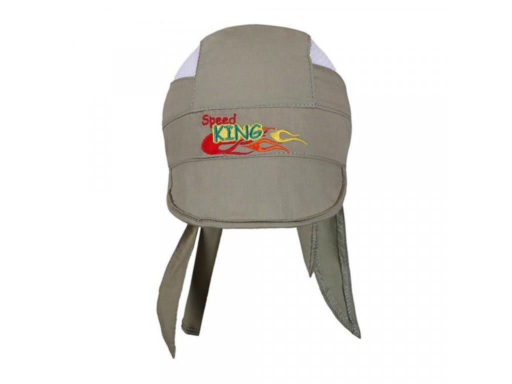Letní dětská čepička-šátek New Baby Speed King zelená