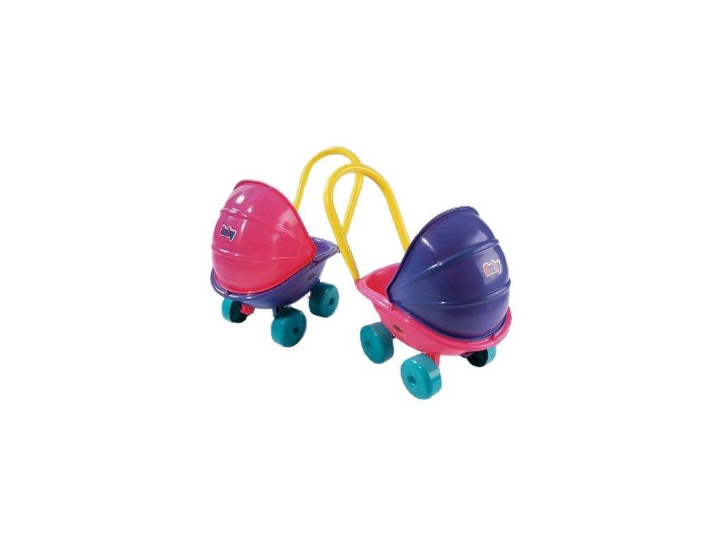 Kočárek pro panenky hluboký fialový