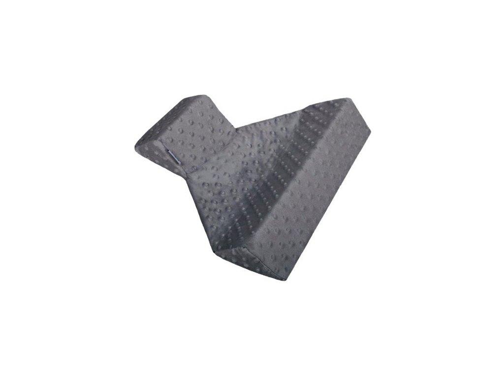 Trojhranná opěrka z Minky Womar šedá