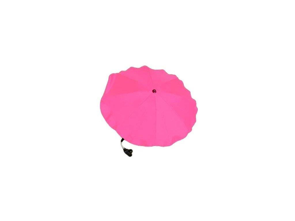 Slunečník na kočárek růžový