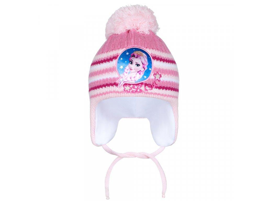 Zimní dětská čepička New Baby Lisa světle růžová