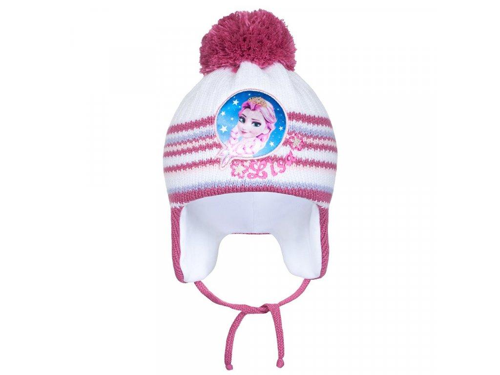 Zimní dětská čepička New Baby Lisa tmavě růžová