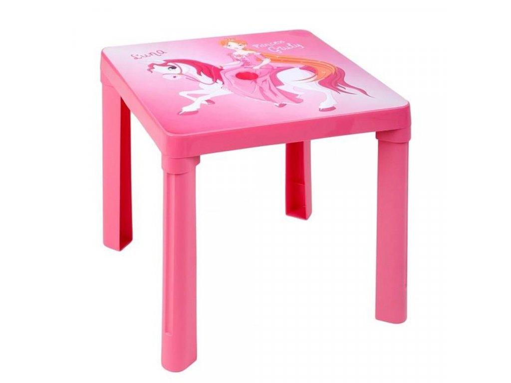Dětský zahradní nábytek - Plastový stůl růžový