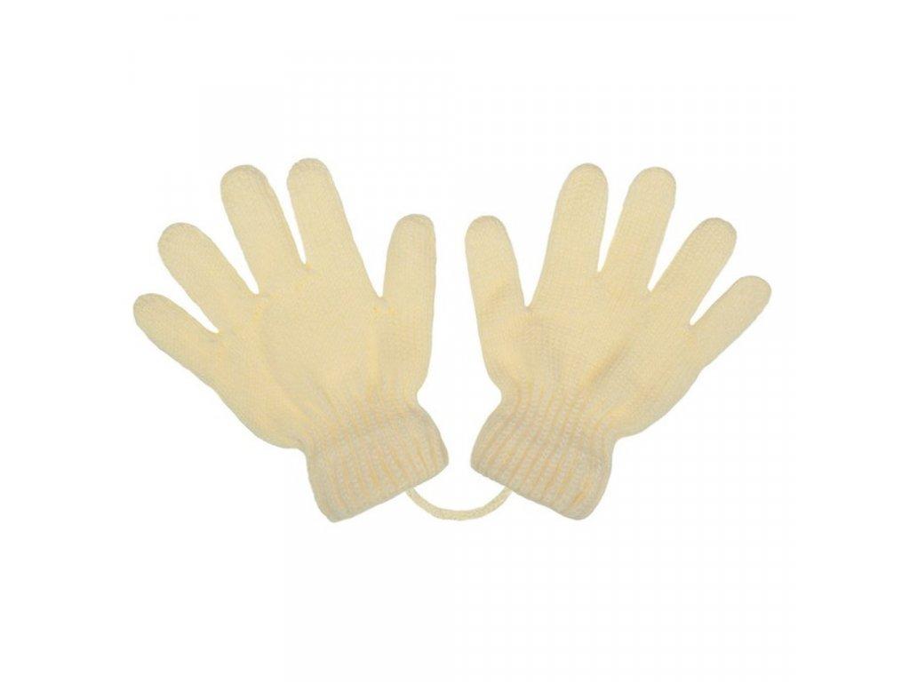 Dětské zimní rukavičky New Baby krémové