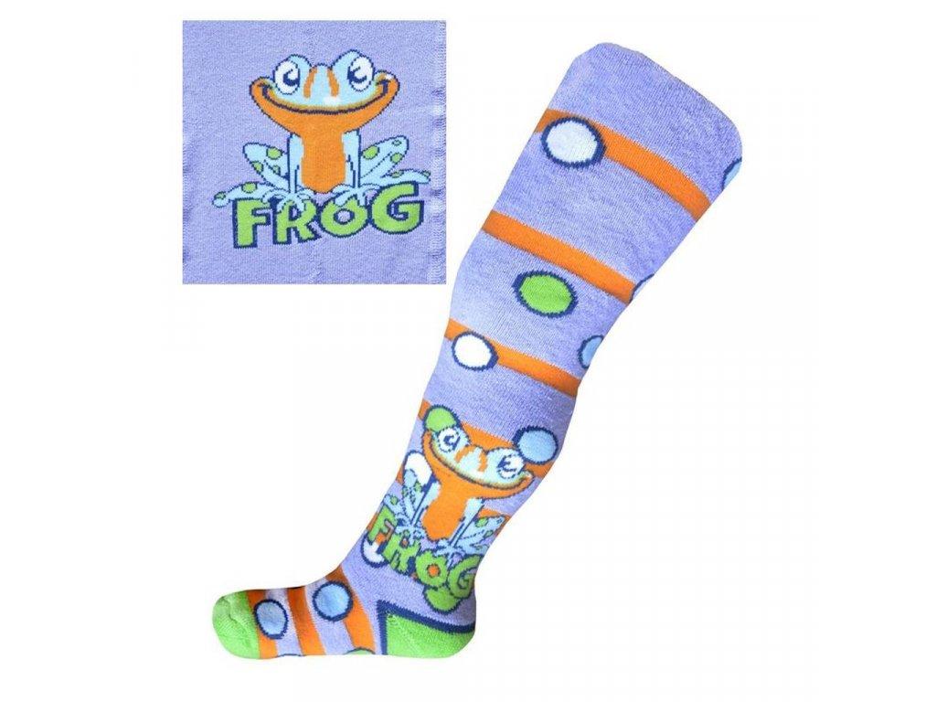 Froté punčocháčky New Baby fialové s žabkou