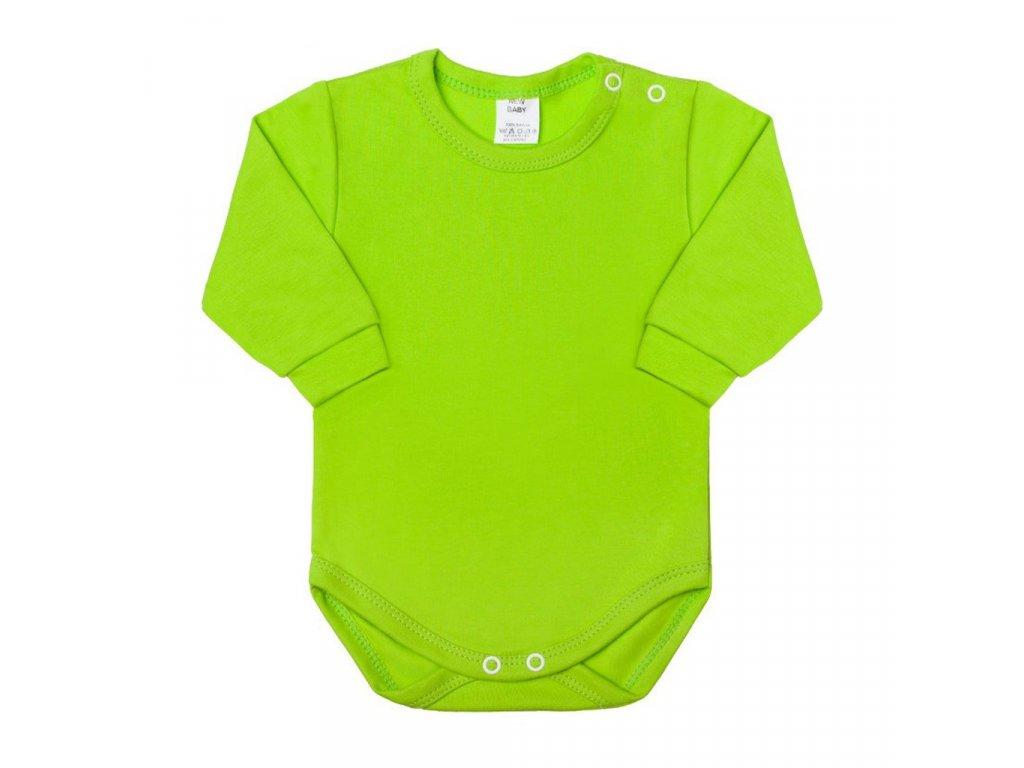 Kojenecké body s dlouhým rukávem New Baby světle zelené