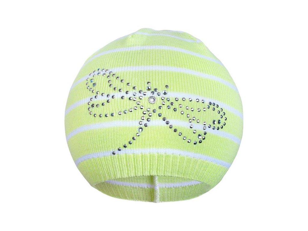 Jarní čepička New Baby vážka zelená