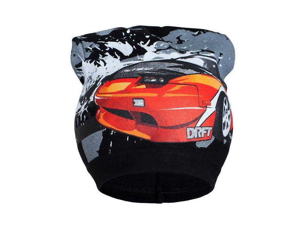 Jarní dětská čepička New Baby auto černé