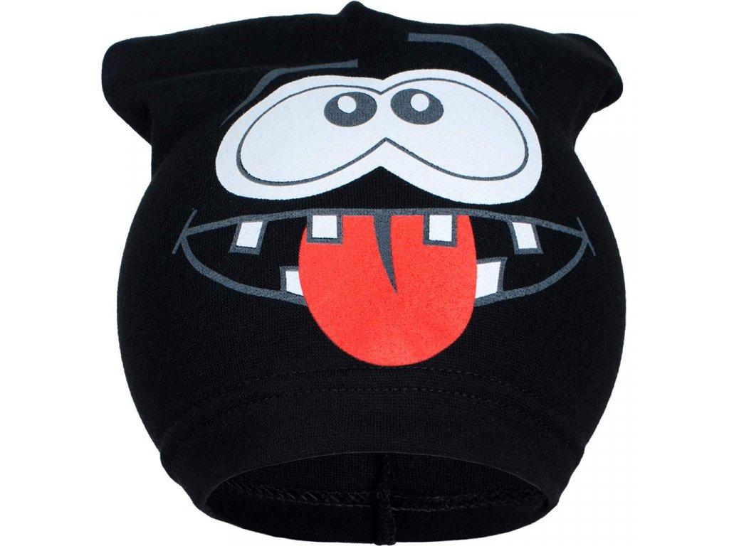 Jarní dětská čepička New Baby smíšek černá