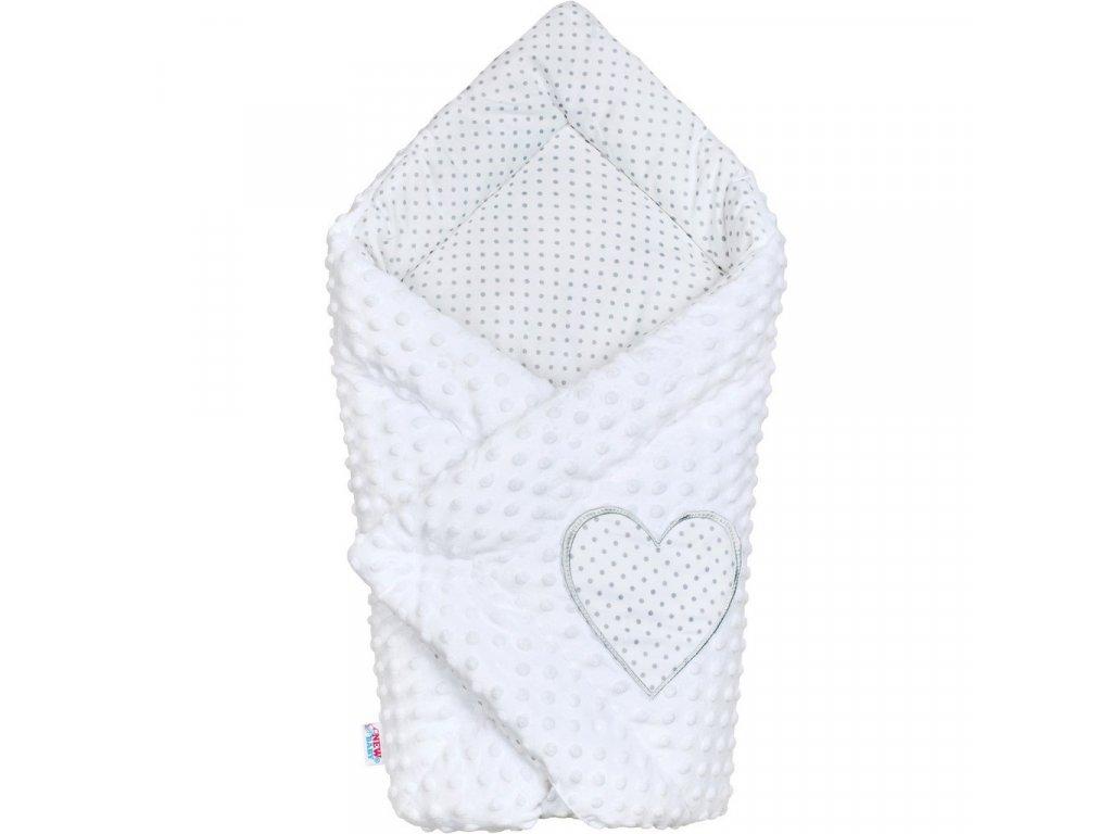 Luxusní Zavinovačka z Minky New Baby bílá 73x73 cm