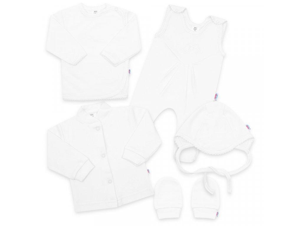 5-ti dílná soupravička New Baby bílá