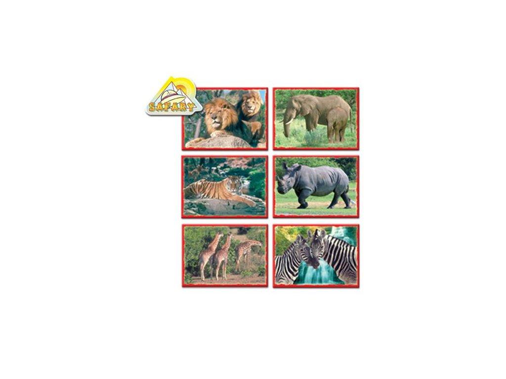 Skládací obrázkové kostky 12 ks afrika
