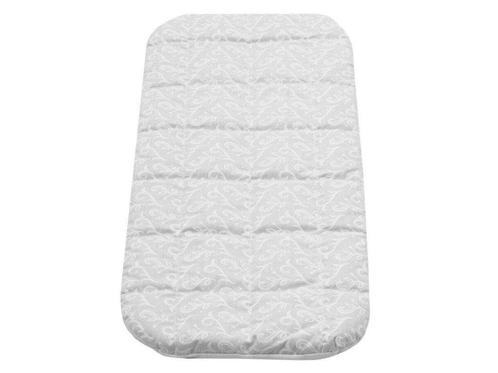 Dětská matrace do kočárku New Baby KLASIK 75x35x3 molitan-pohanka bílá