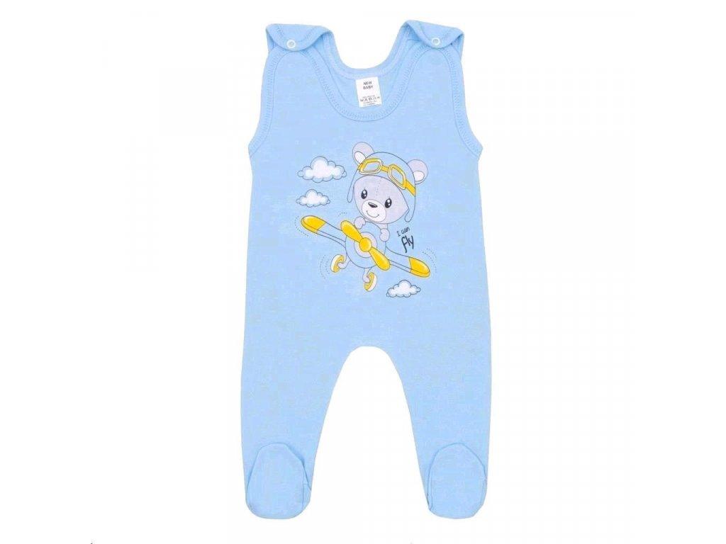 Kojenecké dupačky New Baby Teddy pilot modré