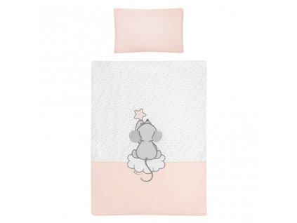 6-dílné ložní povlečení Belisima Cute Mouse 90/120 růžové