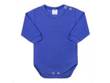 Kojenecké body s dlouhým rukávem New Baby modré
