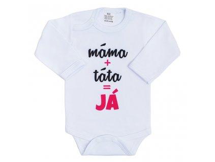 Body s potiskem New Baby máma plus táta rovná se JÁ
