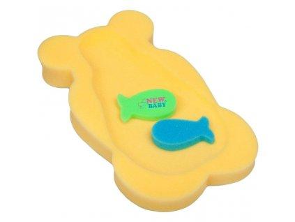 Pěnová podložka maxi New Baby medvěd žlutá
