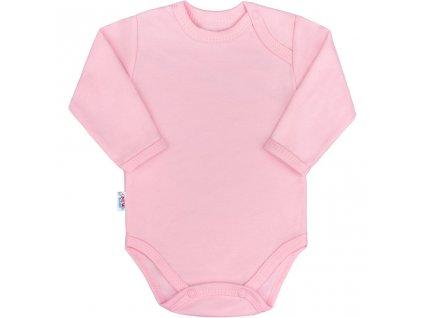 Kojenecké body s dlouhým rukávem New Baby Pastel růžové