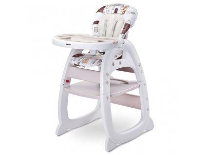 Jídelní židlička CARETERO HOMEE beige