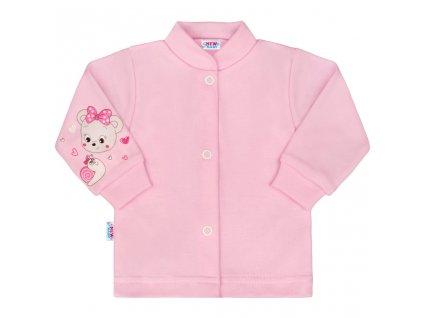 Kojenecký kabátek New Baby myška růžový