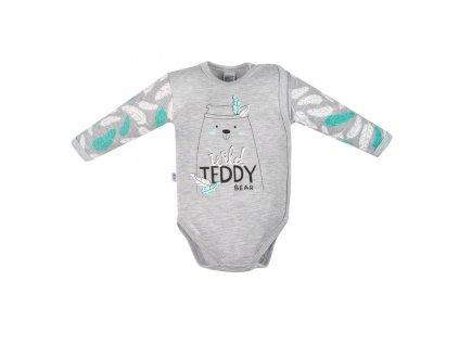 Kojenecké body s bočním zapínáním New Baby Wild Teddy