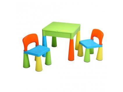 Dětská sada stoleček a dvě židličky NEW BABY multi color