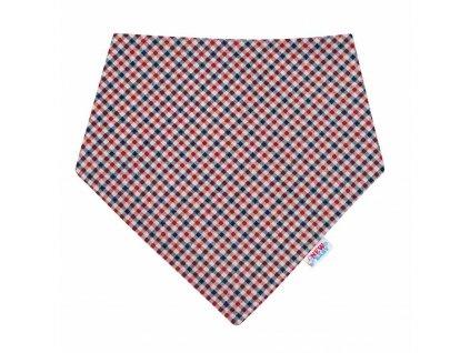 Kojenecký šátek na krk New Baby Checkered