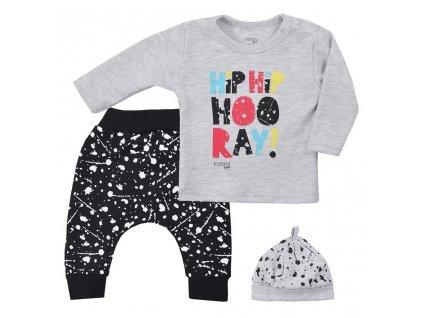 3-dílná dětská souprava Koala Hip-Hip šedá