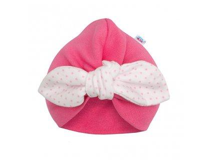 Dívčí čepička turban New Baby For Girls dots