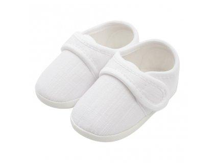Kojenecké capáčky New Baby Linen bílé 0-3 m