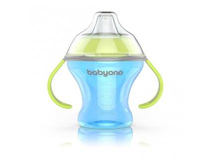 Netekoucí hrneček s měkkým náustkem Baby Ono 180 ml modrý