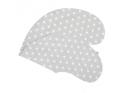 Povlak na kojící polštář New Baby Hvězdičky šedý