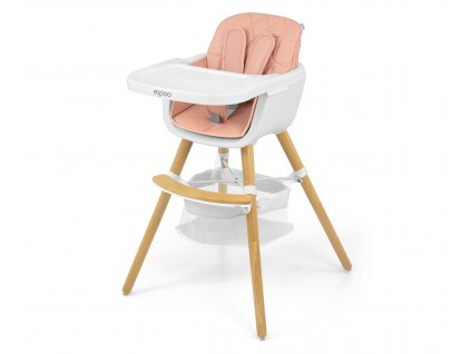 Jídelní židlička Milly Mally 2v1 Espoo růžová