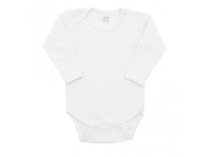 Luxusní body dlouhý rukáv New Baby - bílé